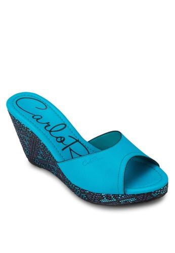 3&quotesprit 香港; Vinyl Sandal Wedges Platform, 女鞋, 楔形涼鞋