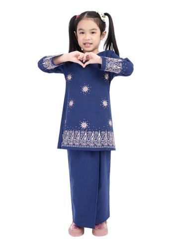 D'YANA blue BAJU KURUNG D'YANA - AVALYN (KIDS) 49A04KA1F4FC28GS_1