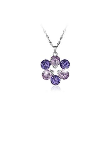 Glamorousky purple Elegant Pendant with Purple Austrian Element Crystal and Necklaces 7C7D3AC98E560EGS_1