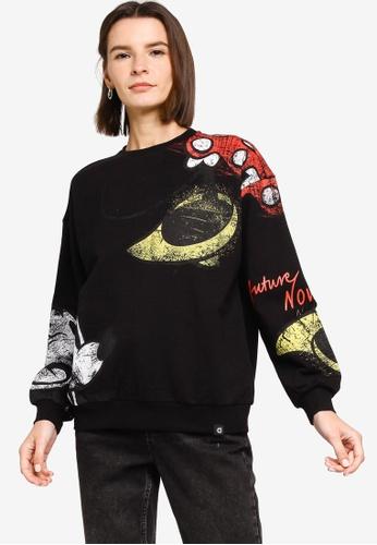 Desigual black Minnie Mouse Sweatshirt E1999AAC6E7128GS_1