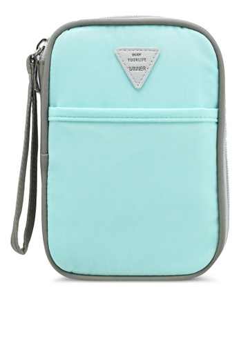 Bagstationz blue Colour Block Travel Zip-Up Passport Pouch 1707BAC4674AAFGS_1