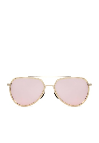 ASLLY pink and multi Strawberry Margaret│Pink Color mirror coating Pilot Sunglasses E05F2GLE44178FGS_1