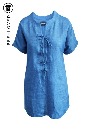 Reformation blue Pre-Loved reformation Loose Fitting Blue Mini Dress 41E60AA45889B7GS_1