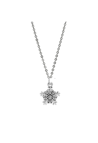 LYCKA silver LDR1239 S925 Silver Classic Snowflake Necklace 06992AC83F155DGS_1
