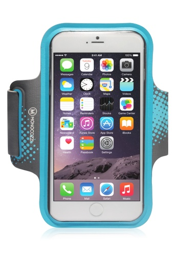 Monocozzi grey and blue Motion Sports Armband With Cable Management For iPhone 6 MO983AC77BWOHK_1