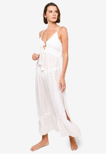 Vero Moda white Dora Maxi Dress 70F5AAAB09BFBDGS_1