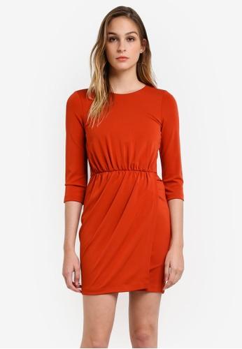 French Connection orange Elsa Draped Jersey Dress FR878AA0RO7TMY_1