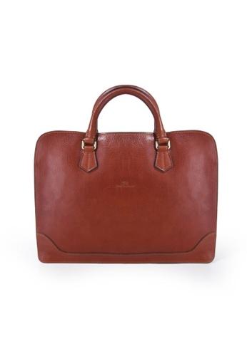 Charles Berkeley brown Charles Berkeley Italian Craftsmanship Sienna Vintage Style Briefcase-06445 CEDA4ACAC3DDA8GS_1