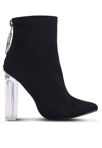 9926bd7bd4c Shop Public Desire Fierce Block Perspex Heel Ankle Boots Online on ZALORA  Philippines