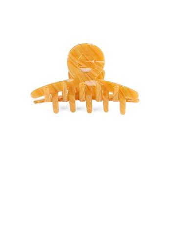 Glamorousky orange Simple Personality Orange Geometric Hair Claw 87135AC681464EGS_1