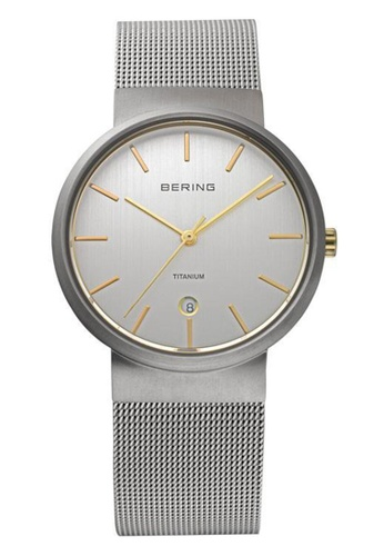 Bering silver Classic 11036-004 Silver 36 mm Men's Watch CF10AAC2EB677DGS_1
