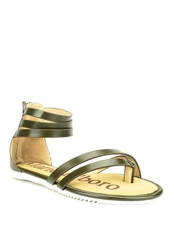 Mario D' boro Runway green Jamilla Sandals 10F1BSH47C2438GS_1