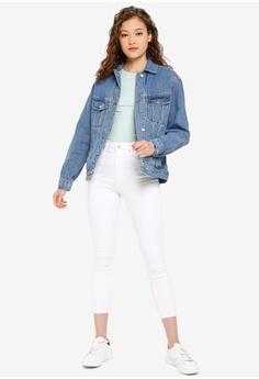 6076ba149b1 20% OFF TOPSHOP Oversized Denim Jacket S$ 106.00 NOW S$ 84.90 Sizes 6 8 10  12