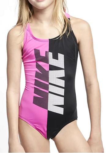Nike Swim pink Girls Crossback One Piece E7407KA9B1F36DGS_1