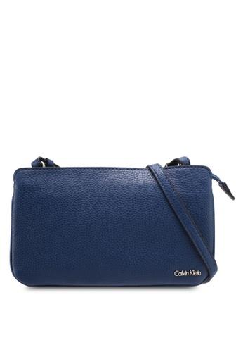 Calvin Klein blue Pleated Pouch with Detail - Calvin Klein Accessories CDDC4AC1D3D514GS_1