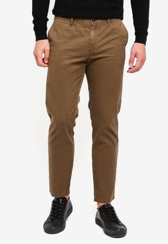 Sisley 綠色 修身剪裁顯瘦全棉長褲 3BC32AA2866E75GS_1