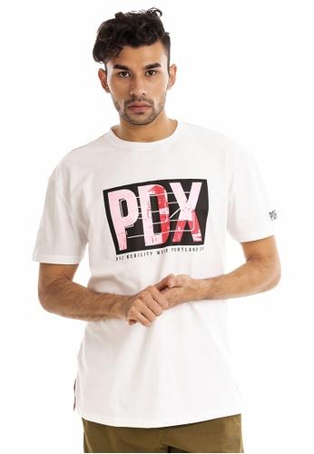 RYZ white RYZ Limited Edition CITY OF ROSES PDX White Short Sleeve T-Shirt. F8D8DAAB7F7DBDGS_1