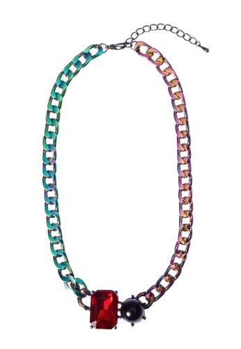 My Flash Trash multi Glass diamond pearl necklace C27D7ACAD150DAGS_1