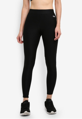 Running Bare black Full Length Tights With Back Zip Pocket 4C8A1AAF0F0CD5GS_1