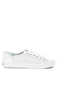 818fb405b23 Keds white Kickstart Perf Leather Sneakers KE942SH0STEUMY 1