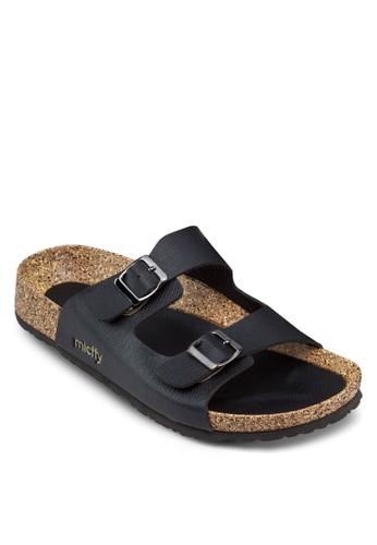雙扣環寬帶涼鞋, esprit台灣outlet女鞋, 涼鞋