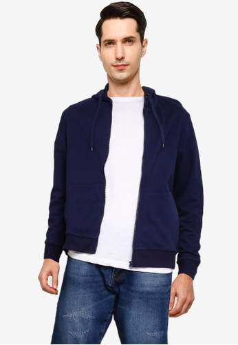 threads by the produce blue and navy Zip Terry Hoodie 1CC78AAE2EDA2EGS_1
