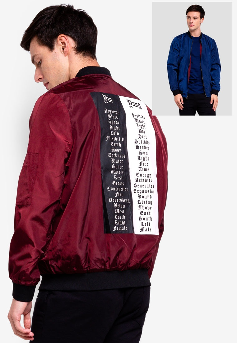 lightweight maroon bomber reversible jacket uniqtee 6qzwb1. Black Bedroom Furniture Sets. Home Design Ideas