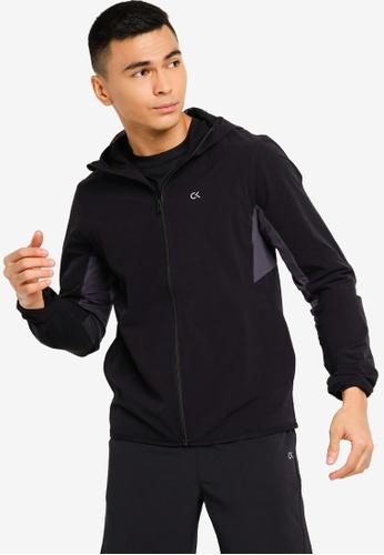 Calvin Klein black Material Mix Woven Jacket - CK Performance BD49CAAE1D5D96GS_1