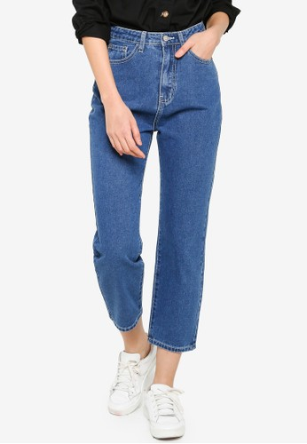 ZALORA BASICS blue Contrast Stitch Jeans 5BE7AAA7BB8918GS_1