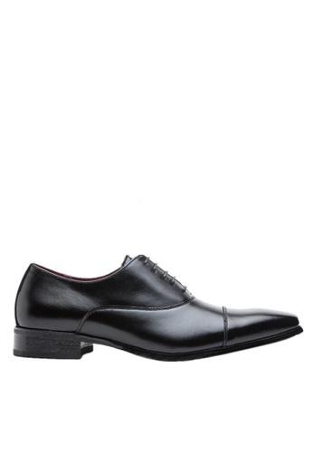 Twenty Eight Shoes 黑色 英式紳士真皮牛津鞋KB3004-2 CC425SH6E327D8GS_1