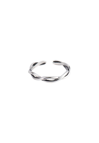 A-Excellence silver Premium S925 Sliver Wave Ring 58B5EAC7C71342GS_1