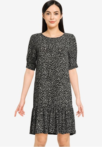 JACQUELINE DE YONG black JDYGITTE SVAN 2/4 DRESS JRS 4B943AA6FEDE3FGS_1