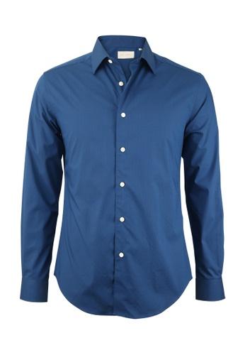 Gay Giano navy Regular Fit Premium Cotton Shirt D8384AA2D459CEGS_1