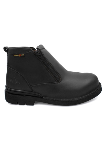 midzone black HAMMER KING Safety Genuine Leather Boots Extra Size 5C98ESH40E84E9GS_1