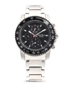 Analog Watch 1674SS-BK-RD-Hand