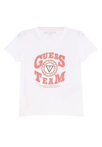 GUESS white Short Sleeve T-Shirt 0942EKAA37251CGS_1
