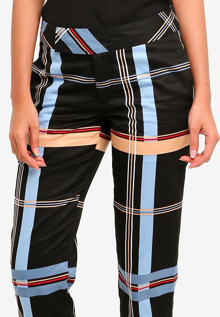 Syomirizwa Pencil Checkered Pants Coco Gupta Blue rqxSpr
