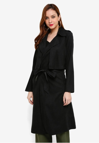 Lubna black Boyfriend Trench Coat 3E41BAAD6317ECGS_1