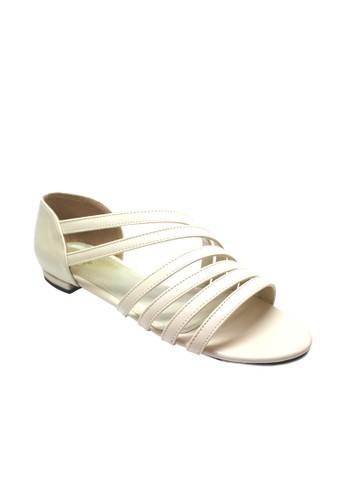 MIKA beige Fairy Cream Flats MI737SH12WNJID_1
