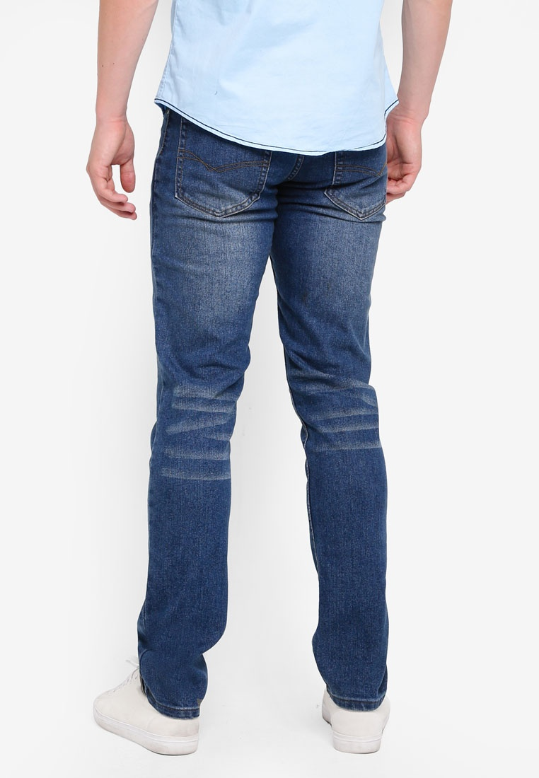 Slim Denim Stretchable Blue Fidelio Washed Dark Fit 518 6q1w88