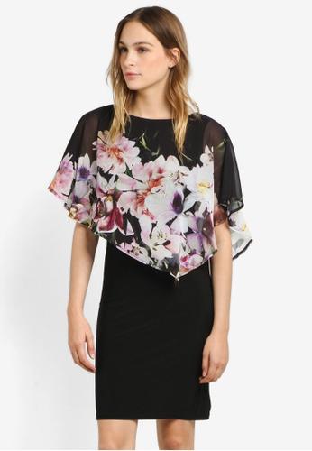 Wallis black Midnight Garden Overlayer Dress WA800AA0RSRIMY_1