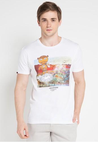 3SECOND white Men Tshirt 3S395AA0VUS2ID_1