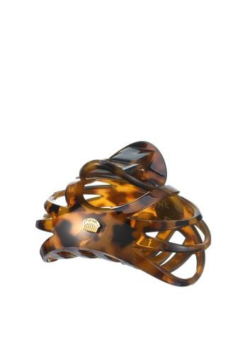 Oyone brown Sun Line M Hair Jaw Clip 47818BE9E1859CGS_1