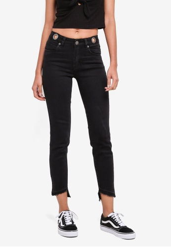 Cotton On black Mid Rise Grazer Skinny Jeans 943EDAA28F4029GS_1