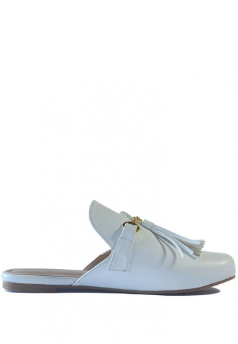 HDY white Maria Mules with Tassel HD484SH0JC3DPH_1