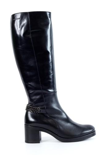 Shu Talk 黑色 修腳中高跟女靴 SH544SH09MSSTW_1