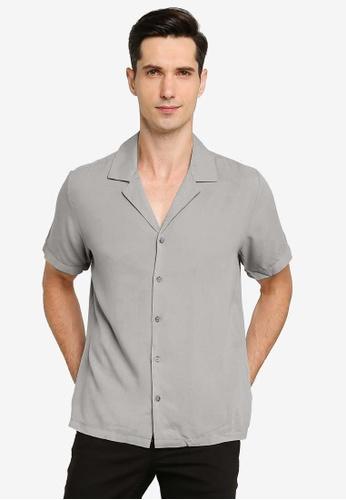 ZALORA BASICS grey Relaxed Shirt 12513AAA917F3AGS_1