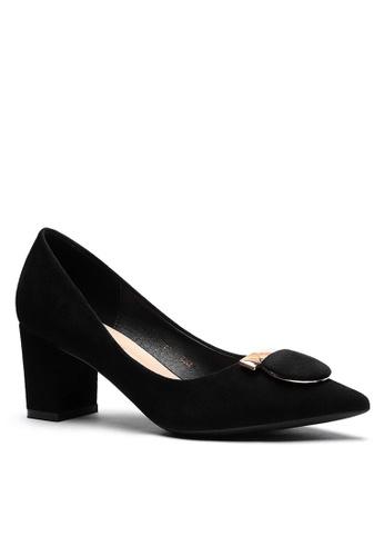 Twenty Eight Shoes 黑色 6.5CM 尖頭仿皮低踭鞋1308-57 2BB1CSH11CAD3AGS_1
