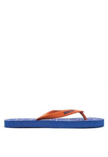 BENCH blue Printed Rubber Slippers BE550SH14MAZPH_1