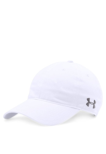 Under Armour white Men's Blank Chino Cap 5BB08ACFB79980GS_1